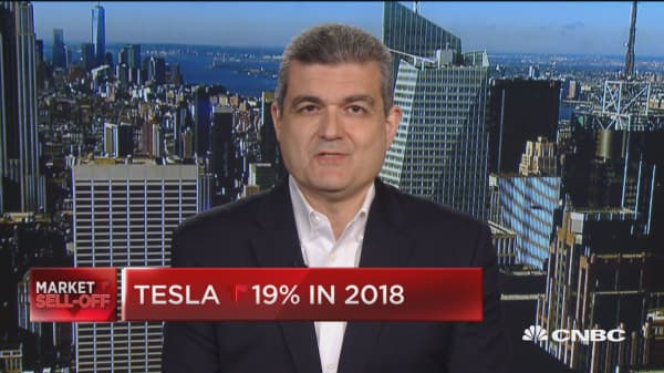 Trading Nation: Tesla down 19% in 2018