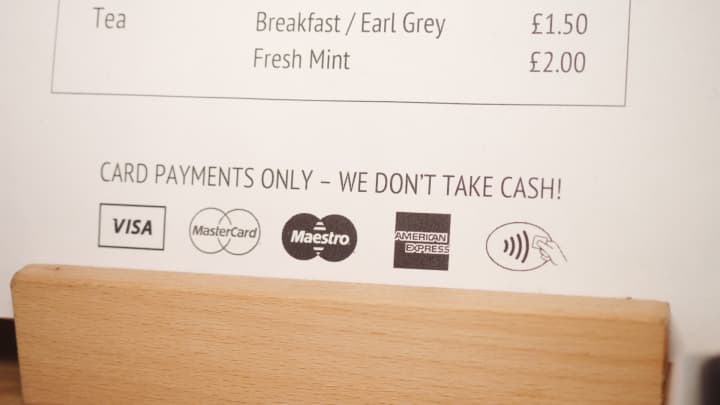 London cafe Browns of Brockley no longer accepts cash payments.