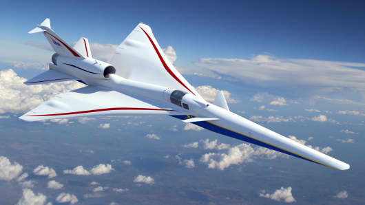 The Lockheed Martin Skunk Works' X-plane for NASA's Low-Boom Flight Demonstration contract.