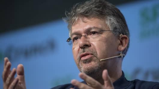 John Giannandrea, former senior vice president of engineering at Google, speaks during the TechCrunch Disrupt 2017.