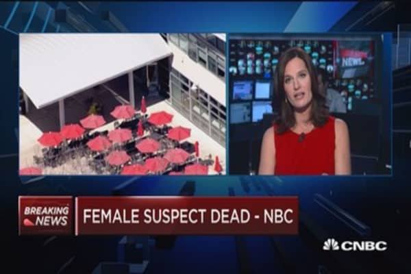 Female suspect dead at YouTube incident says NBC