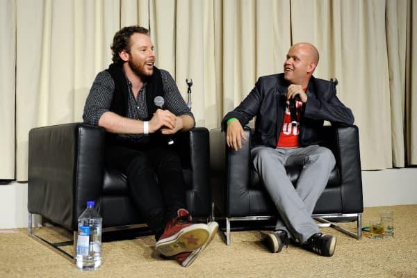 Sean Parker (left) with Spotify CEO Daniel Ek in 2011.