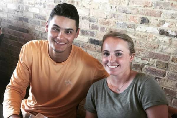 HQ winner Jason Varney with his girlfriend, Emily Dooley.