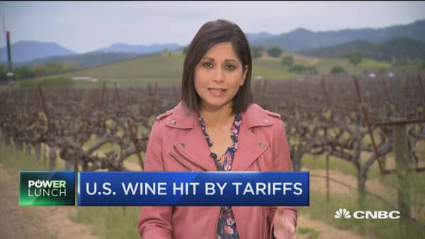 US wine hit by Chinese tariffs