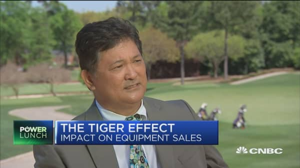 Bridgestone Golf CEO on the 'Tiger effect'