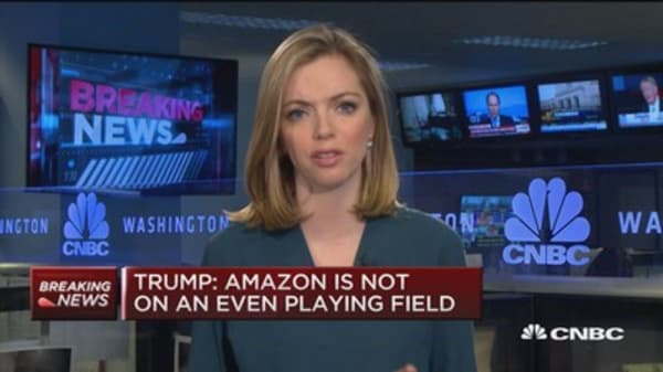Trump: Amazon is not on an even playing field