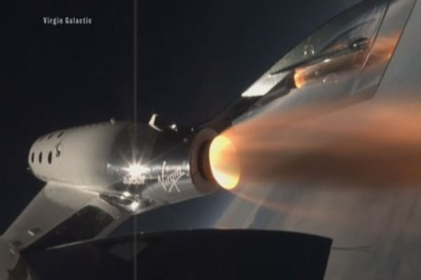 Virgin Galactic spaceship Unity takes first supersonic rocket flight