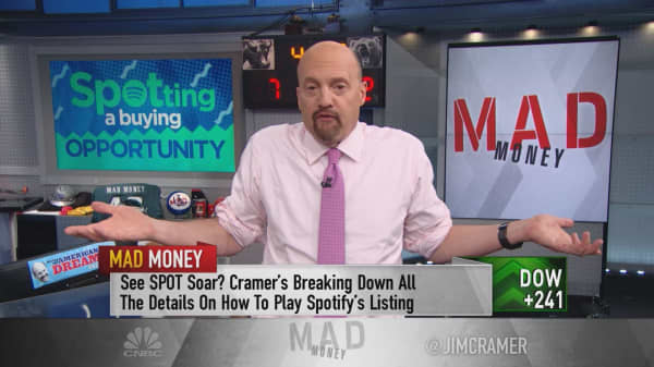 Cramer talks Spotify, the 'anti-IPO' joining the ranks of Netflix and Amazon