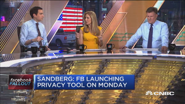 Sheryl Sandberg says Facebook will launch new privacy tool