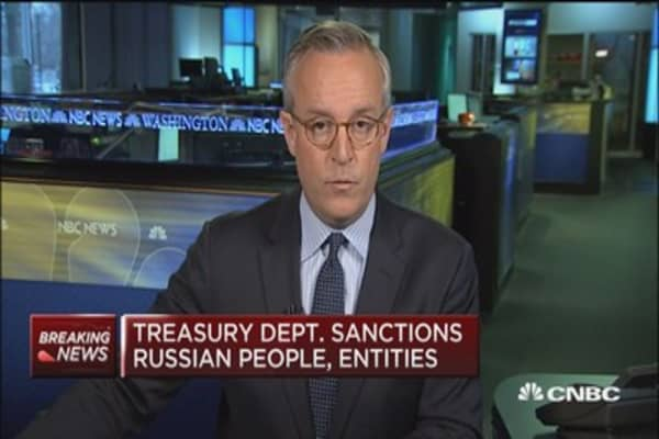 US sanctions Russian oligarchs, companies and government officials