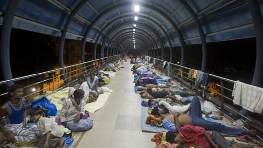Beggars in Mumbai, India, on 28 August 2010.