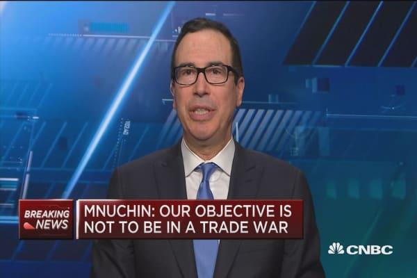 Treasury Secretary Mnuchin: We can manage trade strategy without hurting economy