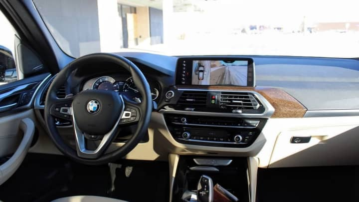 In the driver's seat of the 2018 BMW X3