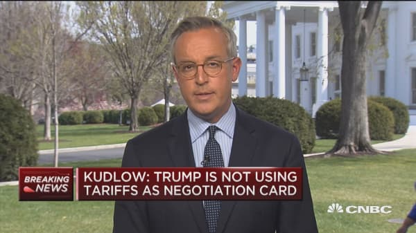 Kudlow: Trump is not using tariffs as negotiation card