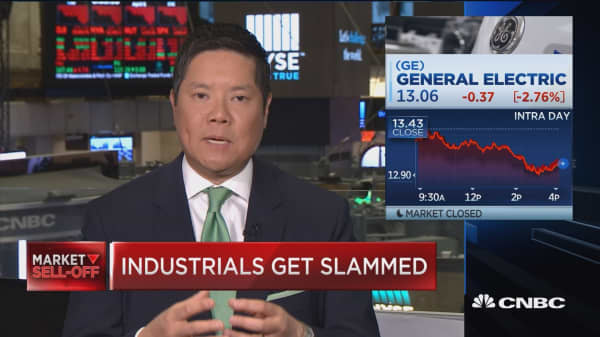 Char points to bottom for beaten Dow stock GE