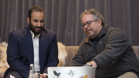 Saudi Crown Prince Mohammad bin Salman with Magic Leap founder Rony Abovitz
