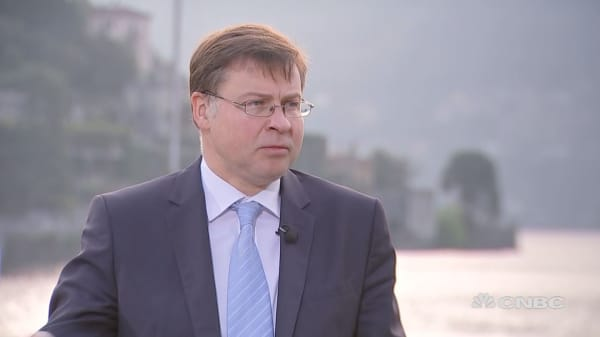 EU's Dombrovskis: Important to stick with rules-based trade system