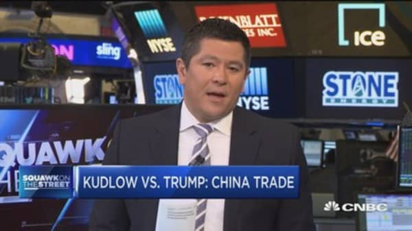 Kudlow vs. Trump on China trade