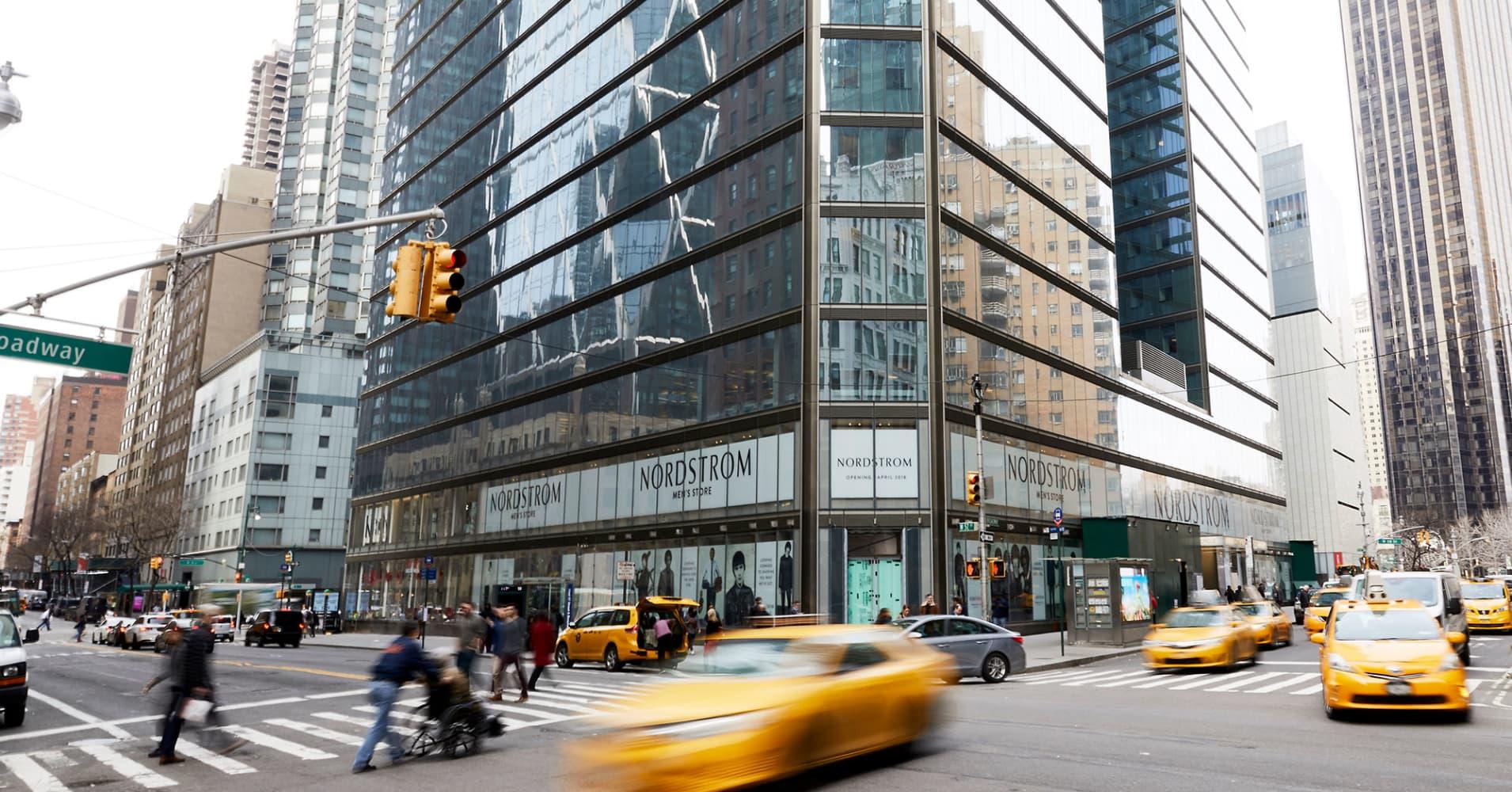 Nordstrom Men's Store NYC exterior.