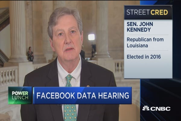 Sen. John Kennedy: Don't want to regulate Facebook half to death
