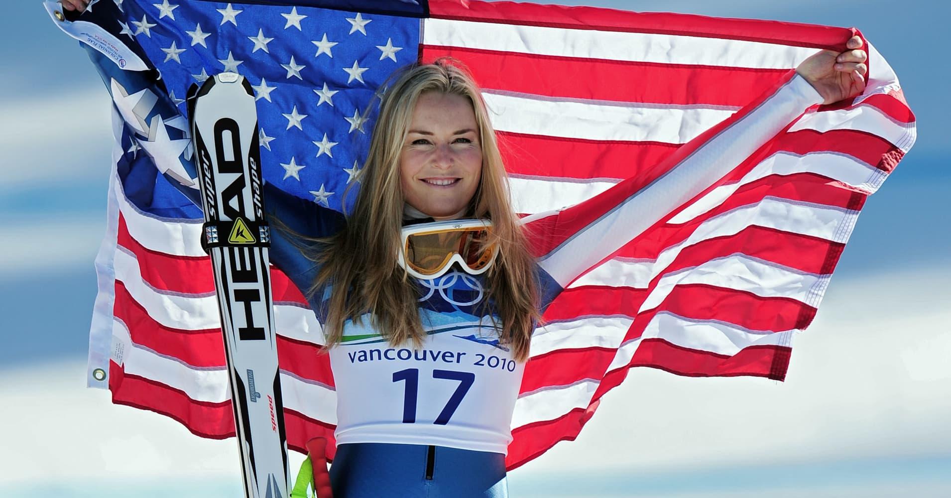 Alpine ski racer Lindsey Vonn
