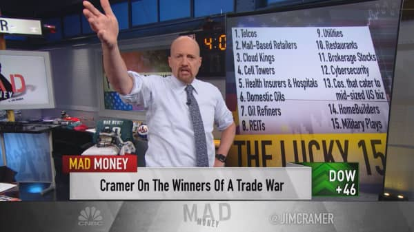 Cramer lists 15 sectors unaffected by Trump's tariffs on China