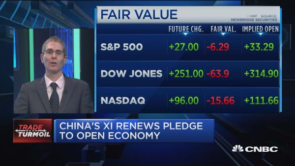 China's Xi renews pledge to open economy