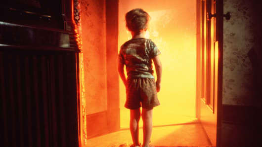 Actor Cary Guffey in a scene from the movie Close Encounters of the Third Kind in 1977.