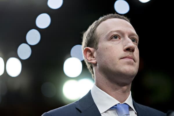 Mark Zuckerberg, chief executive officer and founder of Facebook Inc., waits to begin a joint hearing of the Senate Judiciary and Commerce Committees in Washington, D.C.