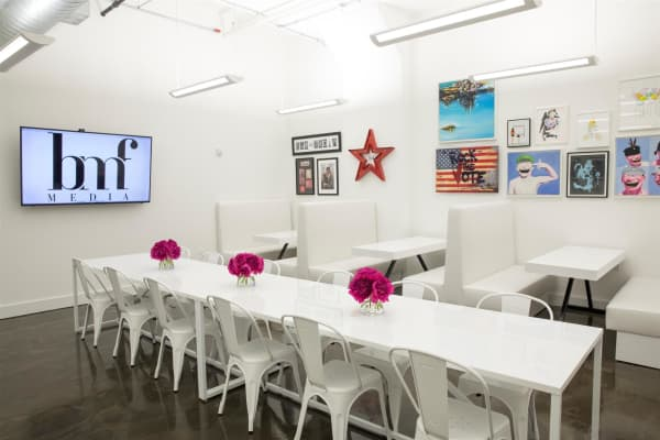 BMF Media's NYC office kitchen