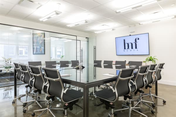 One of BMF Media's boardrooms at its NYC office
