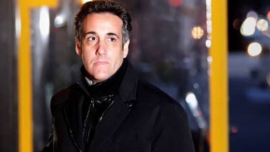 President Donald Trump's personal lawyer Michael Cohen is pictured entering a restaurant in the Manhattan borough of New York City, New York, U.S., April 10, 2018.