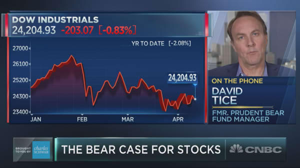 Famed bear David Tice reveals what worries him about stocks right now