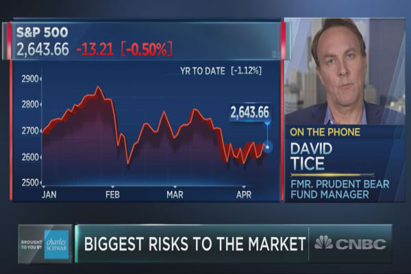 Stock market is 'pretty dangerous,' David Tice warns investors the party is ending on Wall Street