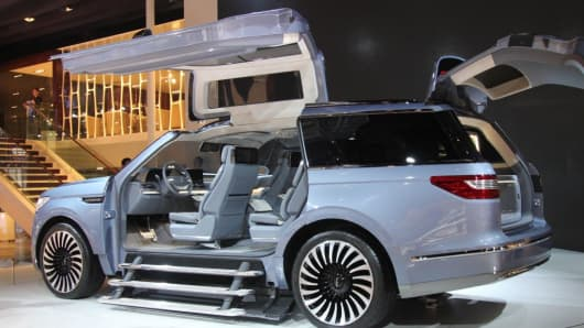 A Lincoln Navigator concept vehicle is on display during the 17th Shanghai International Automobile Industry Exhibition at the National Exhibition and Convention Center on April 23, 2017 in Shanghai, China.