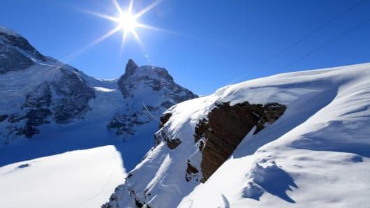 Arrival Of The Klein Matterhorn Cable Car, Ski Resort Of Zermatt, Switzerland.