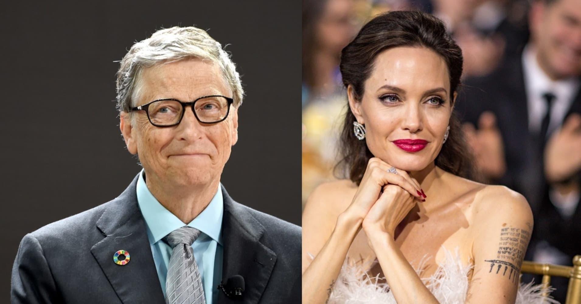 Bill Gates and Angelina Jolie