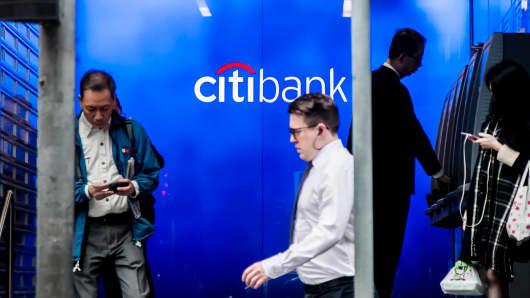 A Citibank branch in Hong Kong.