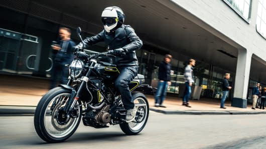 Svartpilen 401 series, part of Husqvarna Motorcycle's 2018 line of street bikes.
