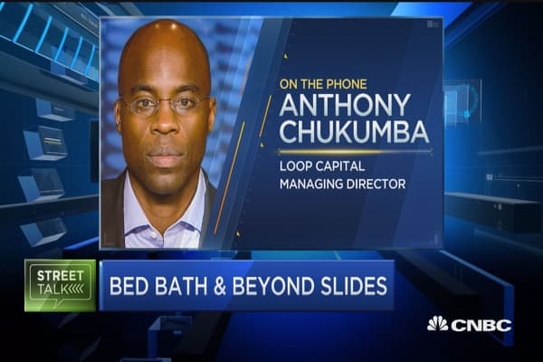 Bed, Bath and Beyond shares on pace for worth day ever