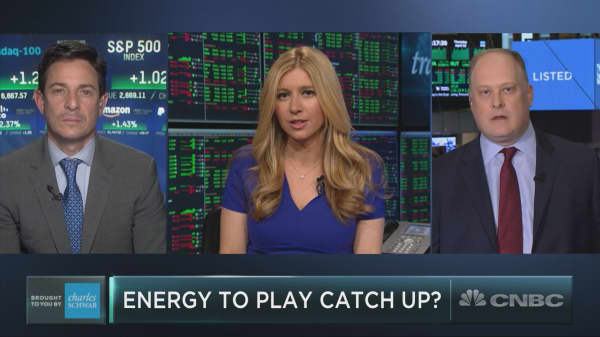 Can energy stocks catch up to the crude oil rally?