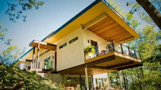 The first modern hemp house in the U.S., built in Asheville, NC, for the then mayor in 2010.
