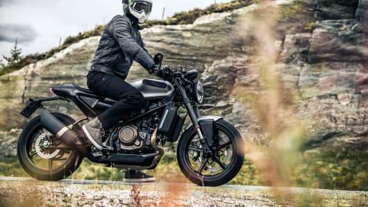 Vitpilen 701 street motorcycle, part of Husqvarna Motorcycles' 2018 street bike line.