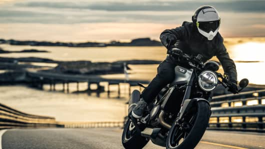 Vitpilen 701 street motorcycle, part of Husqvarna Motorcycles' 2018 street bike line.