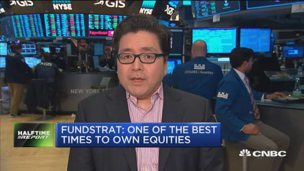 Historically this is a good time to be long equities, says Fundstrat's Tom Lee