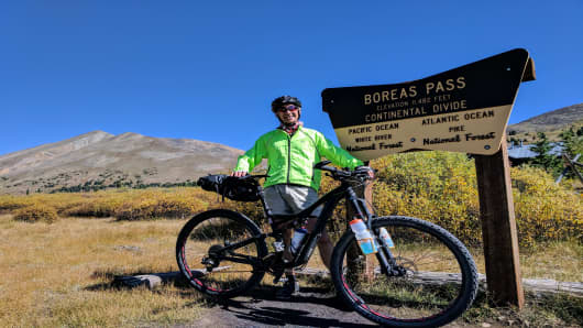 Pichette biked along the Continental Divide