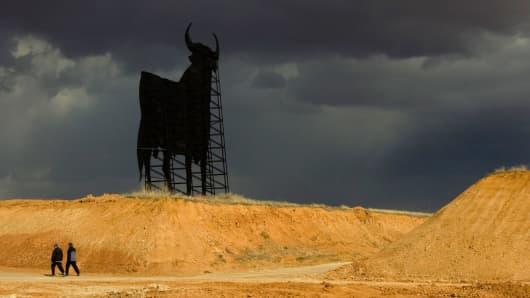 Ominous storm coming bull market concept