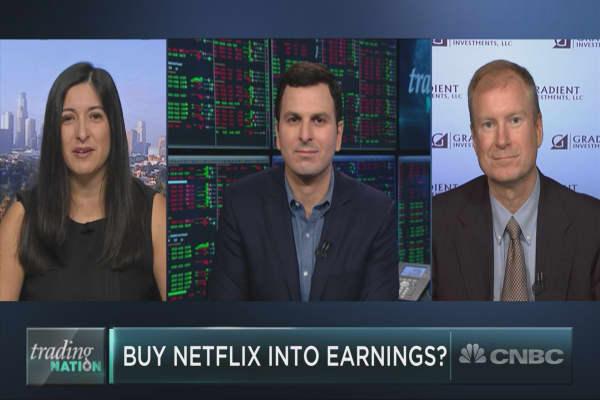 Hit pause on Netflix ahead of earnings?