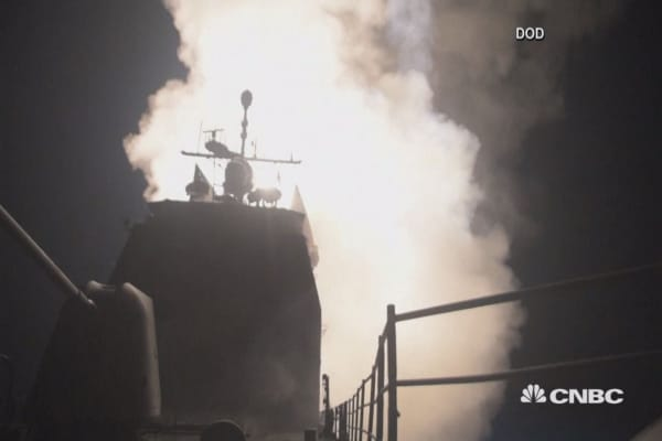 Defense Department releases footage of Syria missile strikes