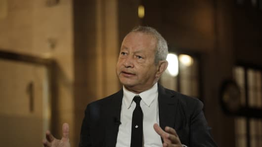 Naguib Sawiris, chairman and chief executive officer of Orascom Telecom Media and Technology Holding.